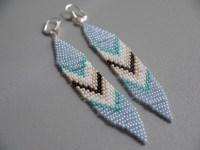 diy beaded tribal earrings  pumps & iron