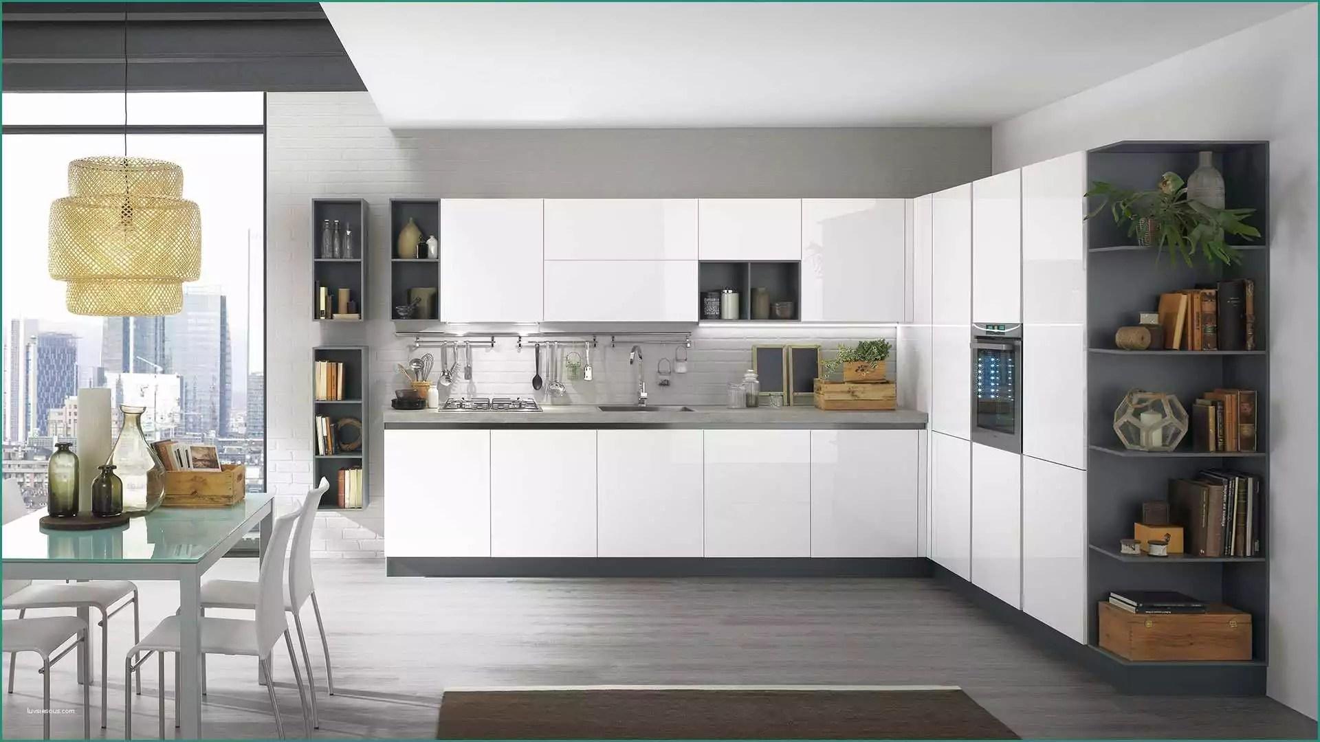 Soggiorno Cucina Moderne