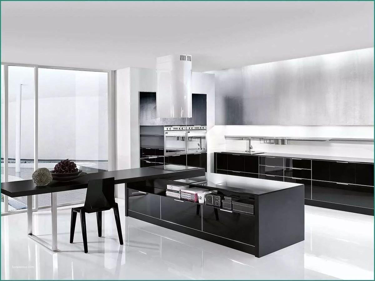 Cucine Moderne Bianche E Nere   2018 Cucine Moderne Con Isola Quadro ...