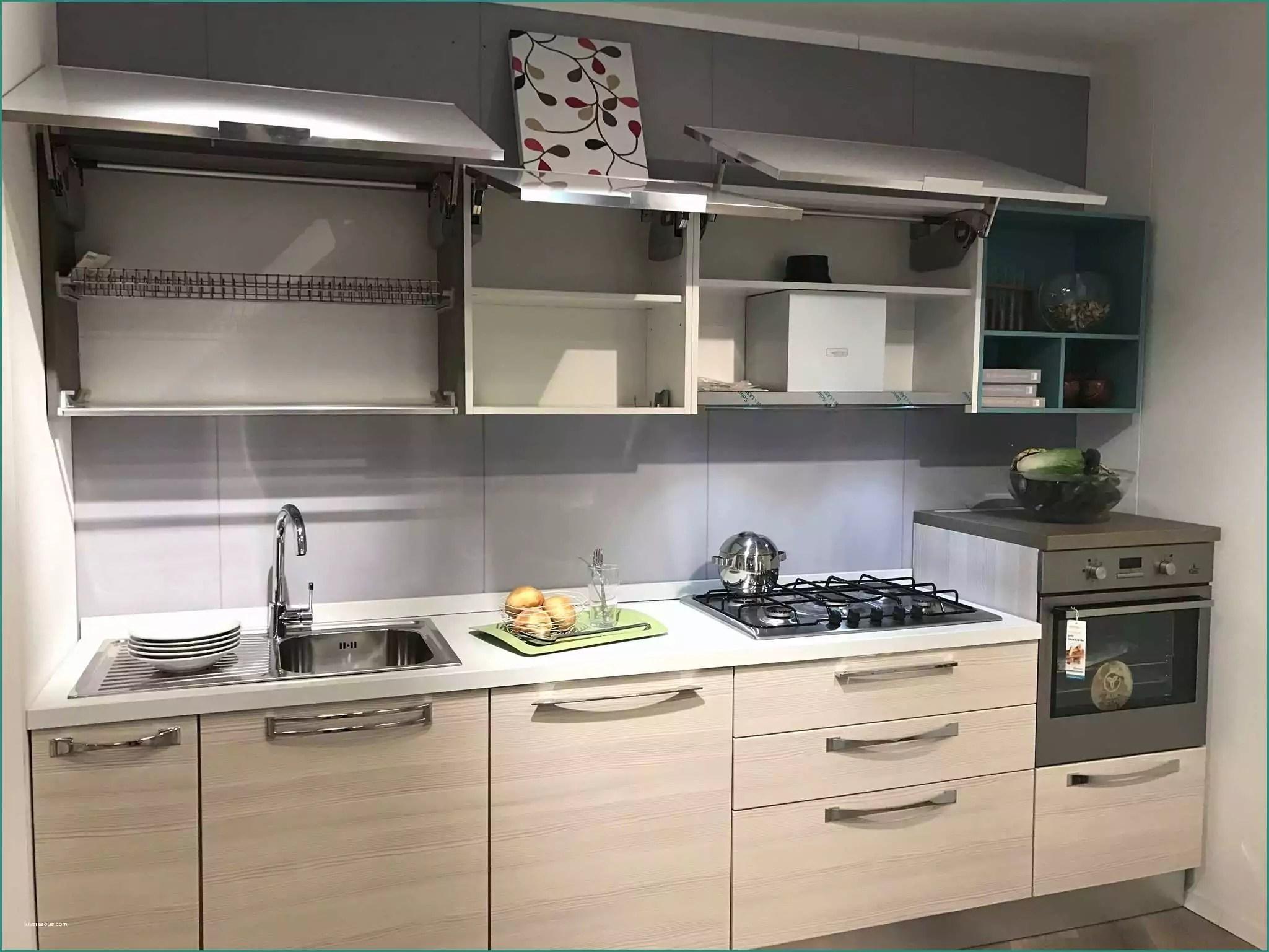 Cucina Lineare 4 Metri Lube | Cucina Lineare Con Design Minimalista ...