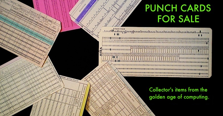Vintage Computer Punch Cards for Sale -- Online Store  Gift Shop - punch cards