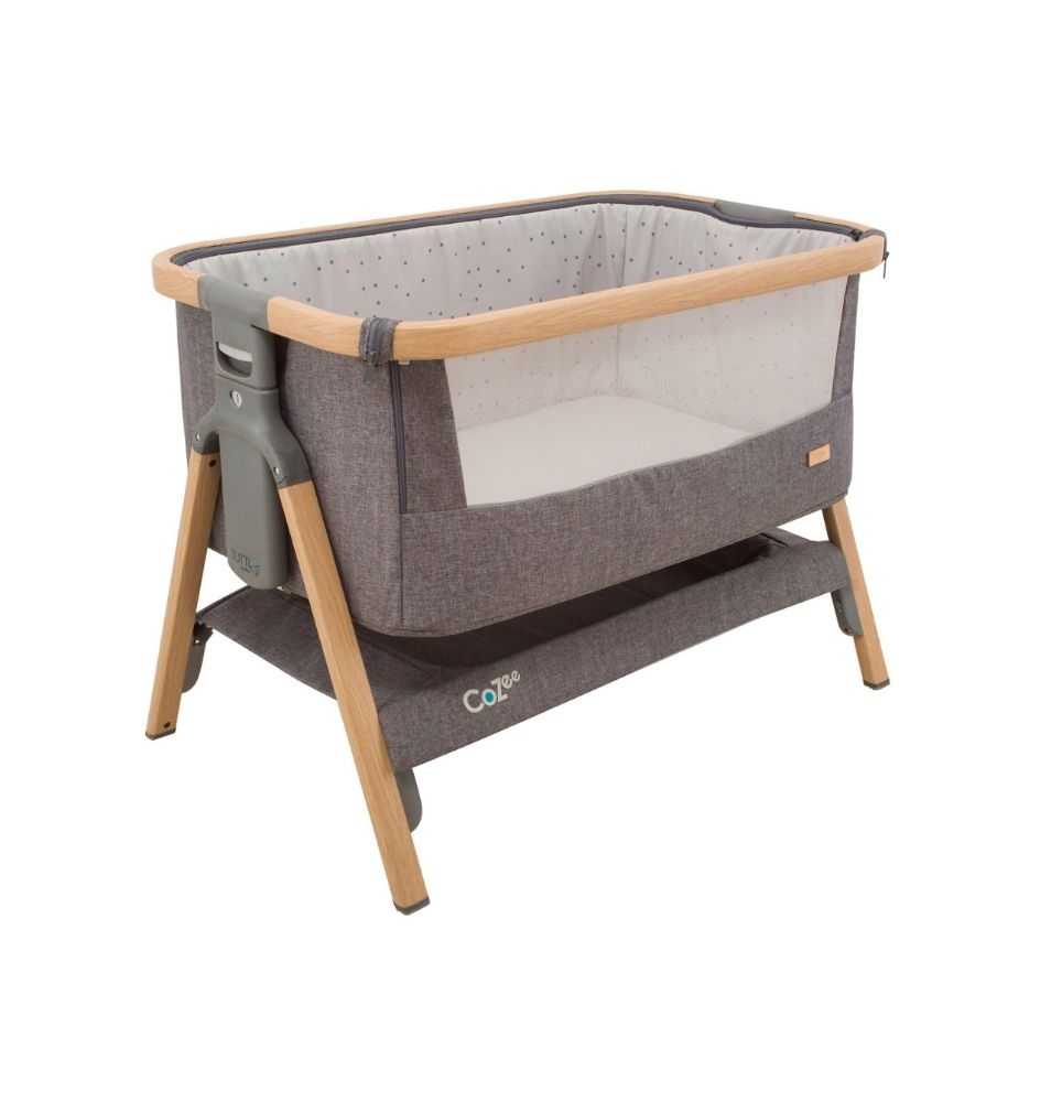 Baby Cradle Dimensions Tutti Bambini Cozee Bedside Co Sleeper Crib Oak And Charcoal