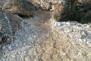 Erosion on Diver Path