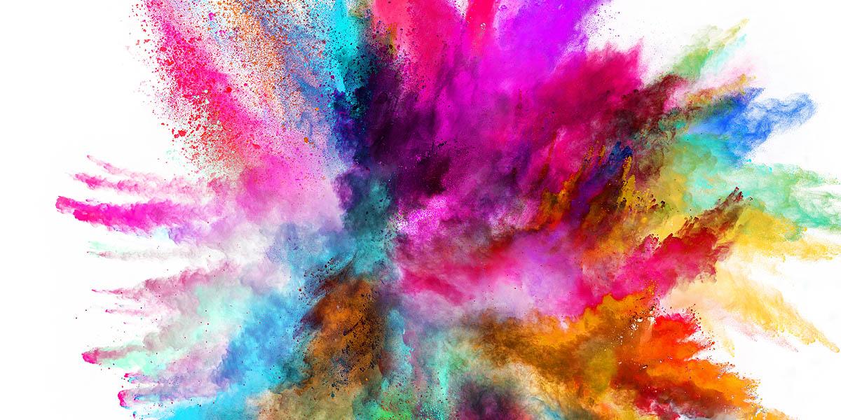 Happy Holi Full Hd Wallpaper Purcolour Color Powder Blasters Foam Confetti Party