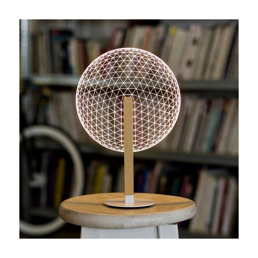 Linde De Lit Bulbing Collection : Lampe Led Illusion 3d Bloom