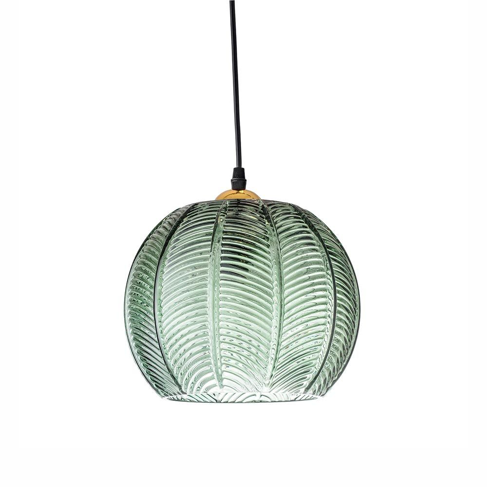 Suspension Ronde Suspension Boule En Verre Vert Bloomingville