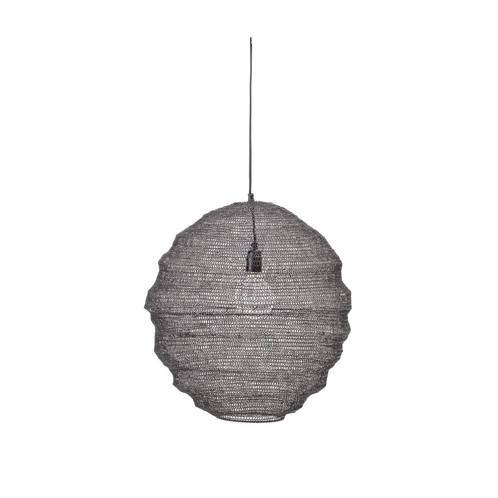 Suspension Noir Metal Bloomingville Black Openwork Metal Pendant