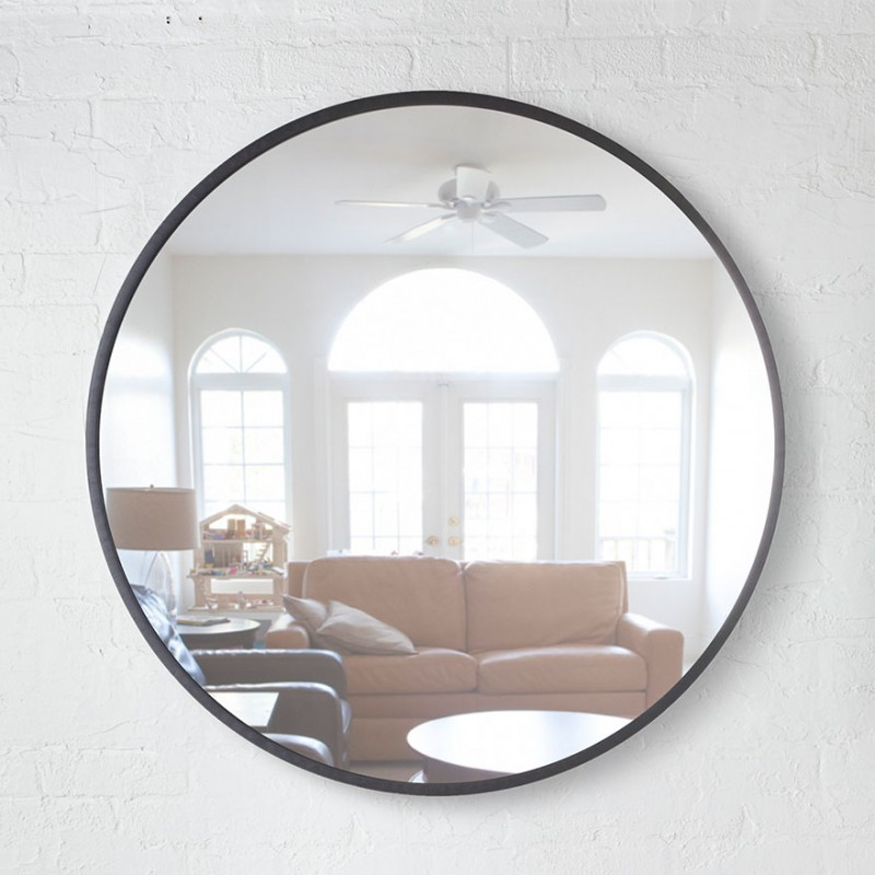 In Wall Toilet Paper Storage Big Round Mirror Hub By Umbra