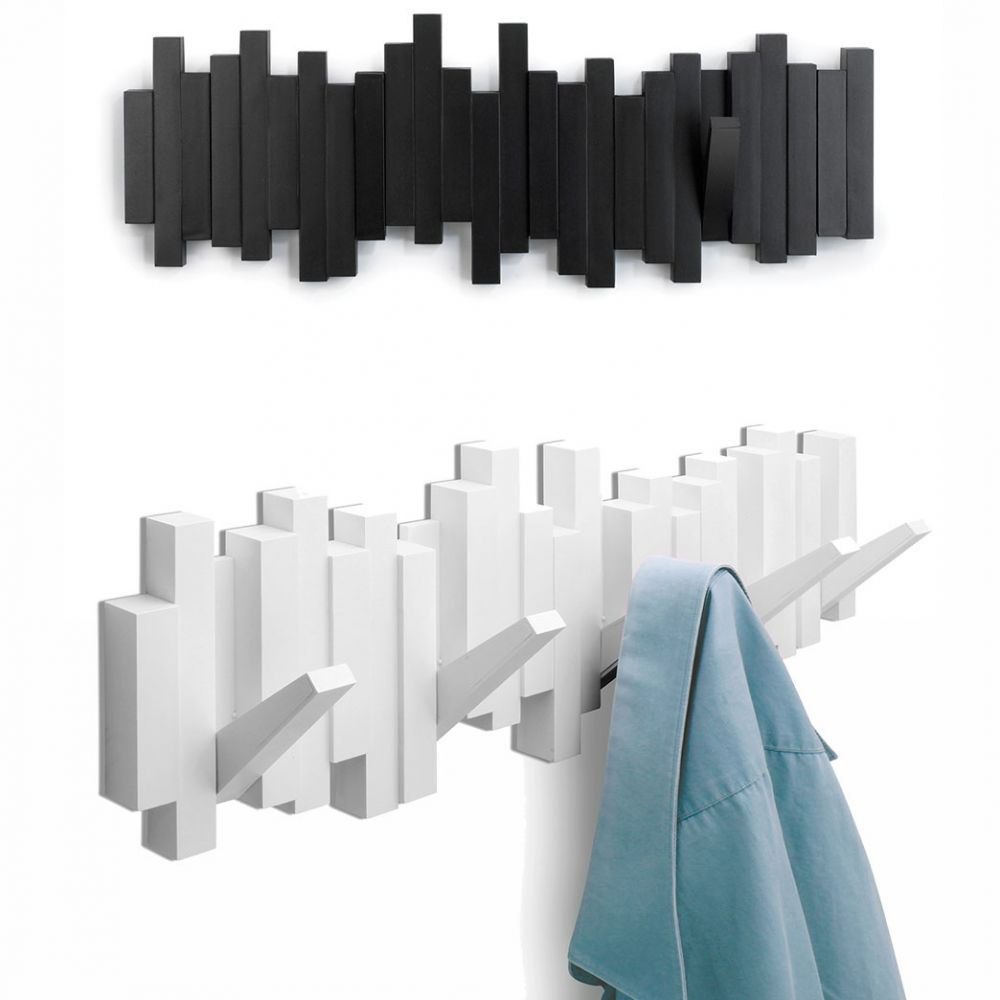 Lit Vertical Porte-manteau Mural Design - Patère Sticks Umbra