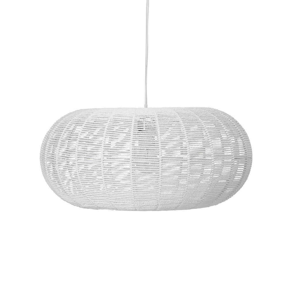 Luminaire Blanc Suspension Blanche En Papier Bloomingville