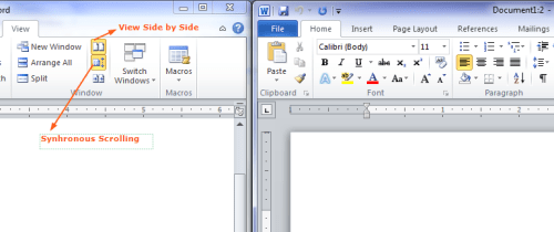 Microsoft Office 2010 - View Side by Side