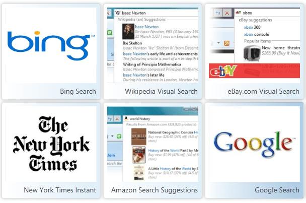 Internet Explorer Search Providers