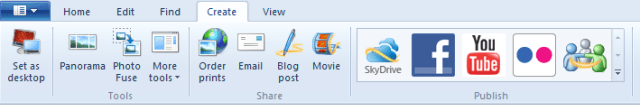 Windows Live Photo Gallery - Create