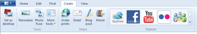 Windows Live Photo Gallery - Create