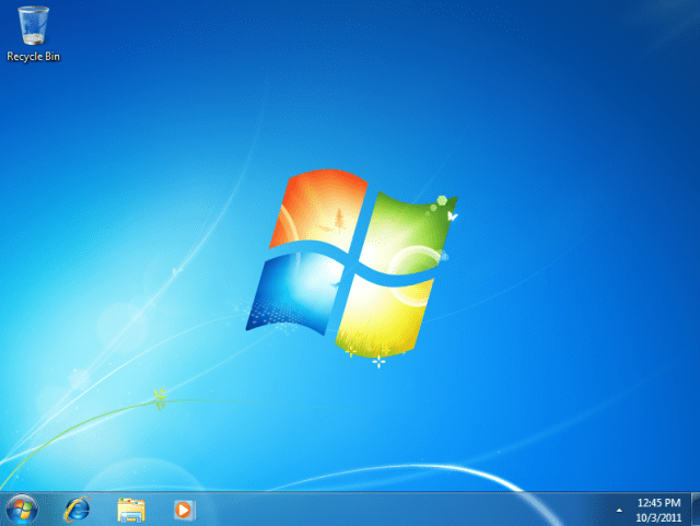 Windows 7 restored