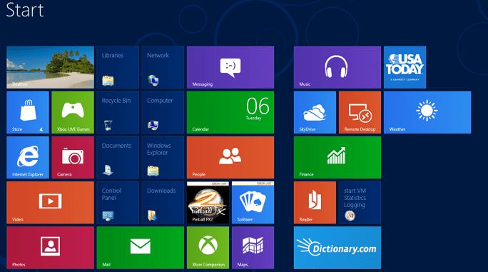 Shortcuts Start Screen Windows 8