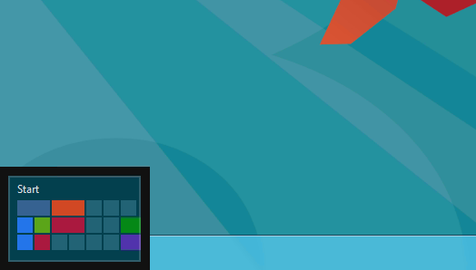 Start Screen button - Windows 8