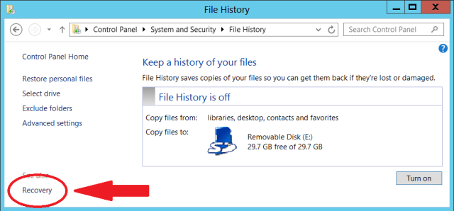 Recovery Drive for Windows RT