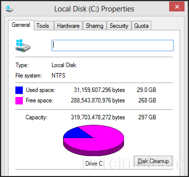 Disk Cleanup Windows 8