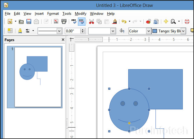 Draw visio application