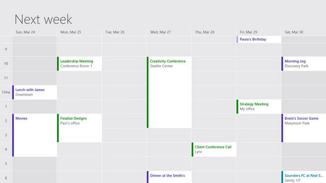 updated calendar app