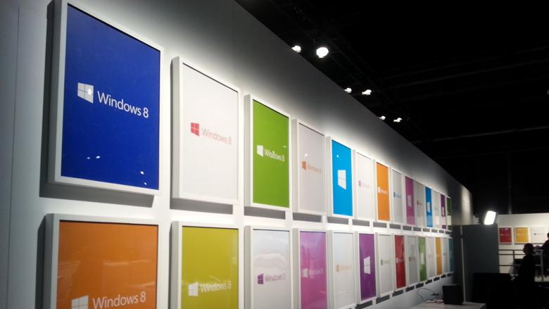 Windows 8 logo colored wall frame