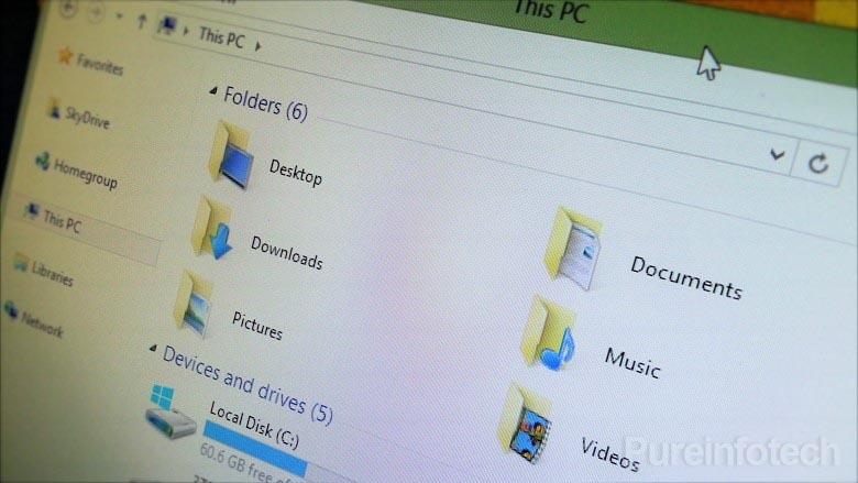 This PC Folders on Windows 8.1