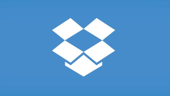 Dropbox logo blue background