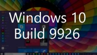 Windows 10 build 9926 Start menu and Desktop