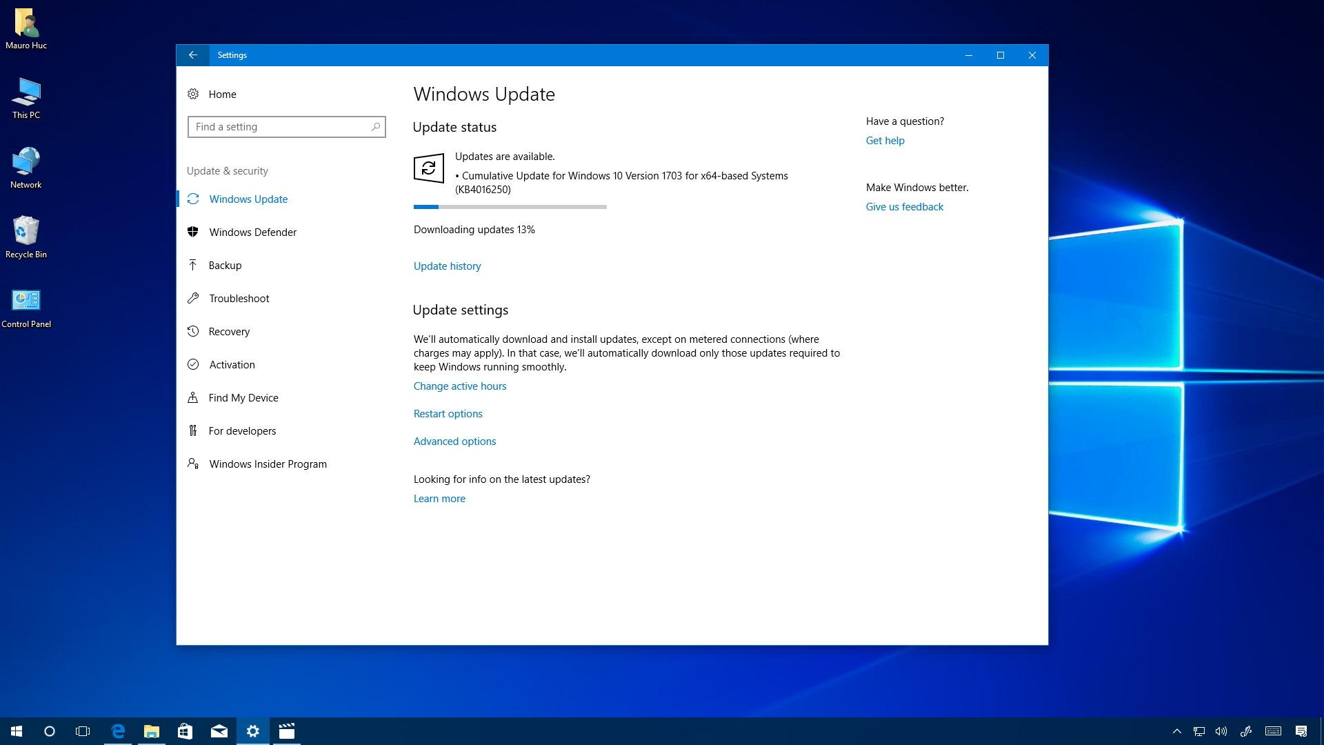 Fall Creators Update Wallpaper Cumulative Update Kb4016250 Releases For Windows 10