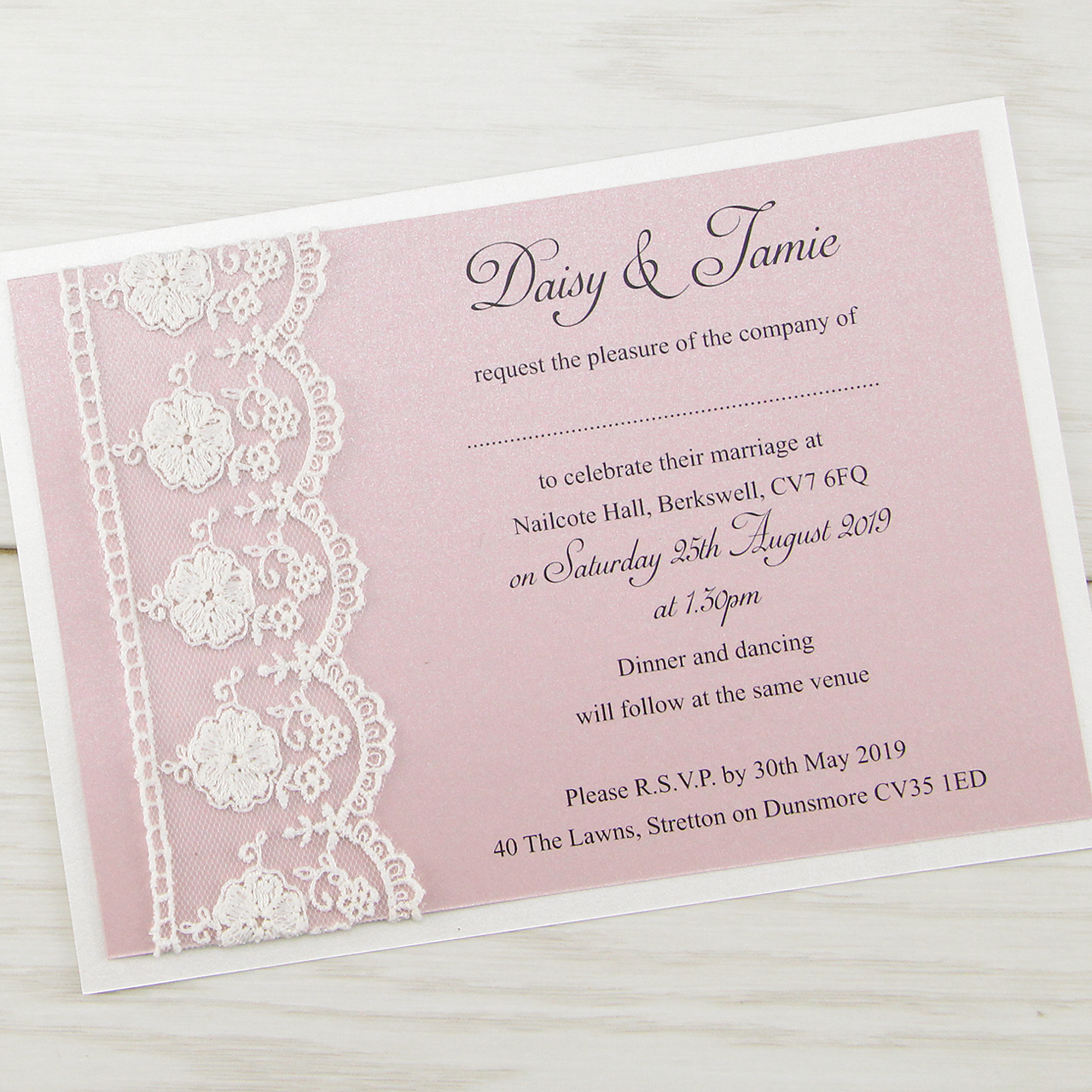 Cheap White Card Elizabeth Wedding Invitation Pure Invitation Wedding Invites