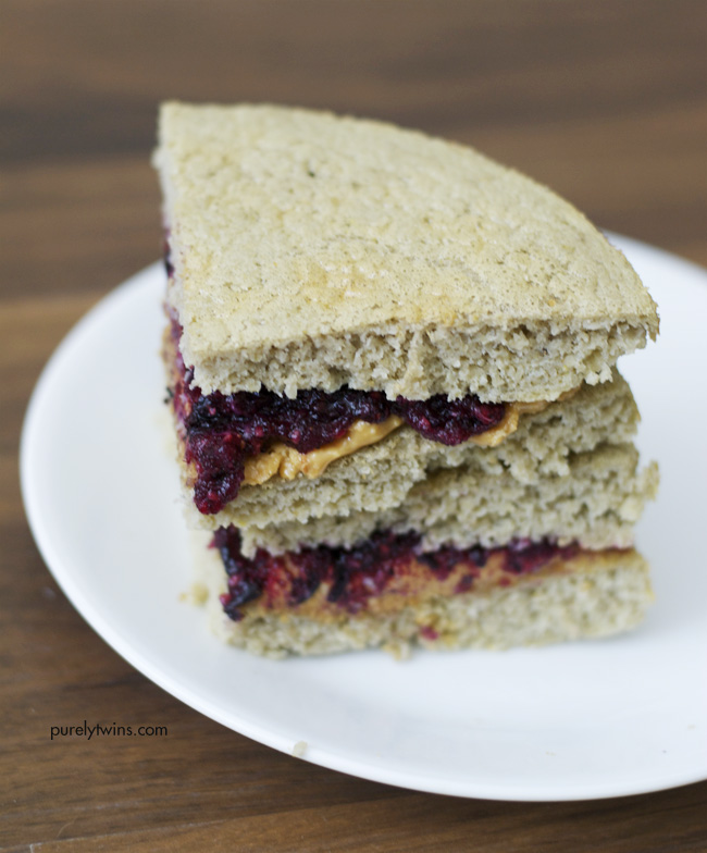 Paleo Peanut Butter and Jelly Bread