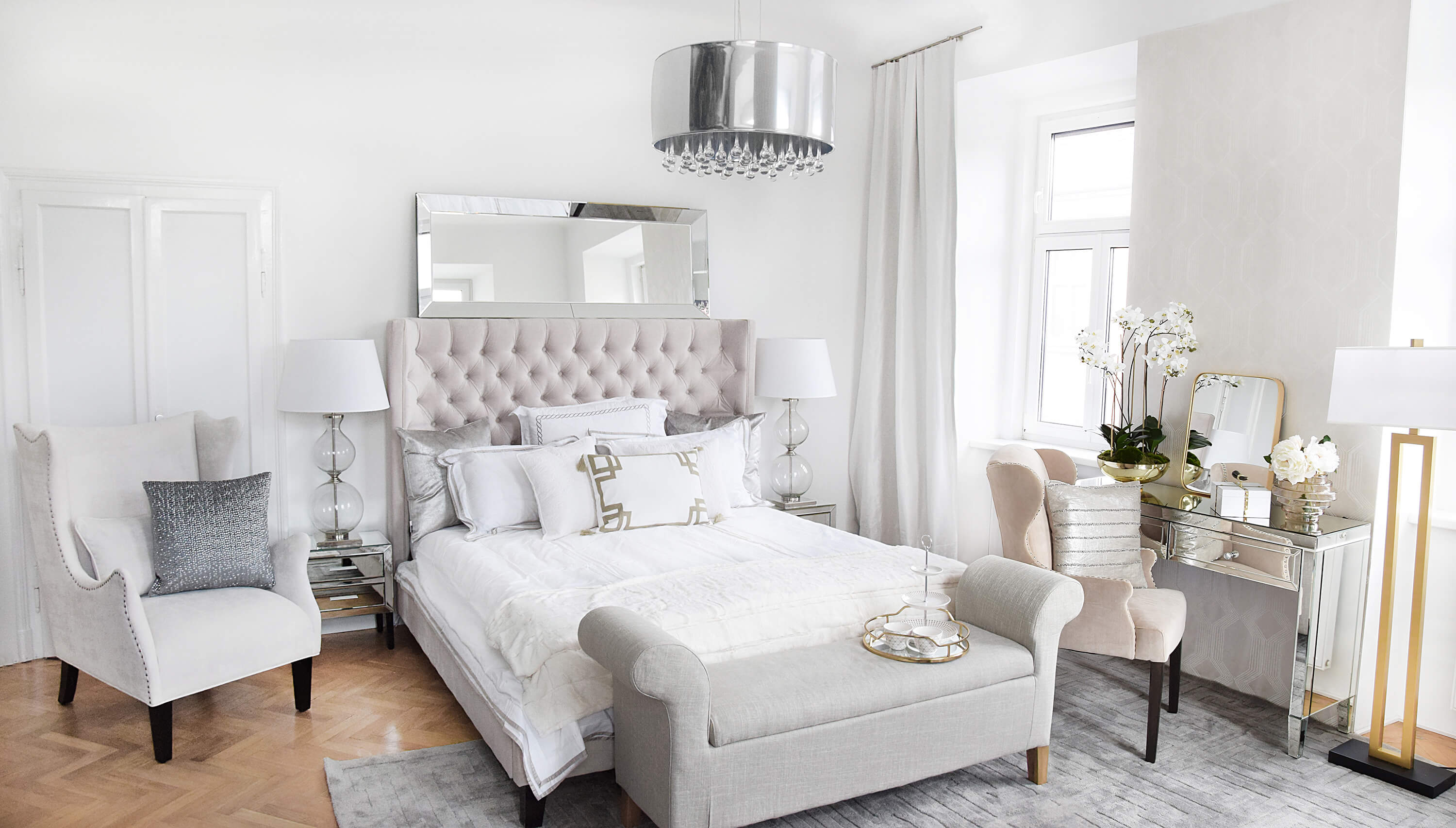 Petrol Bettwäsche Luxury Pearl White Bedroom - Looks