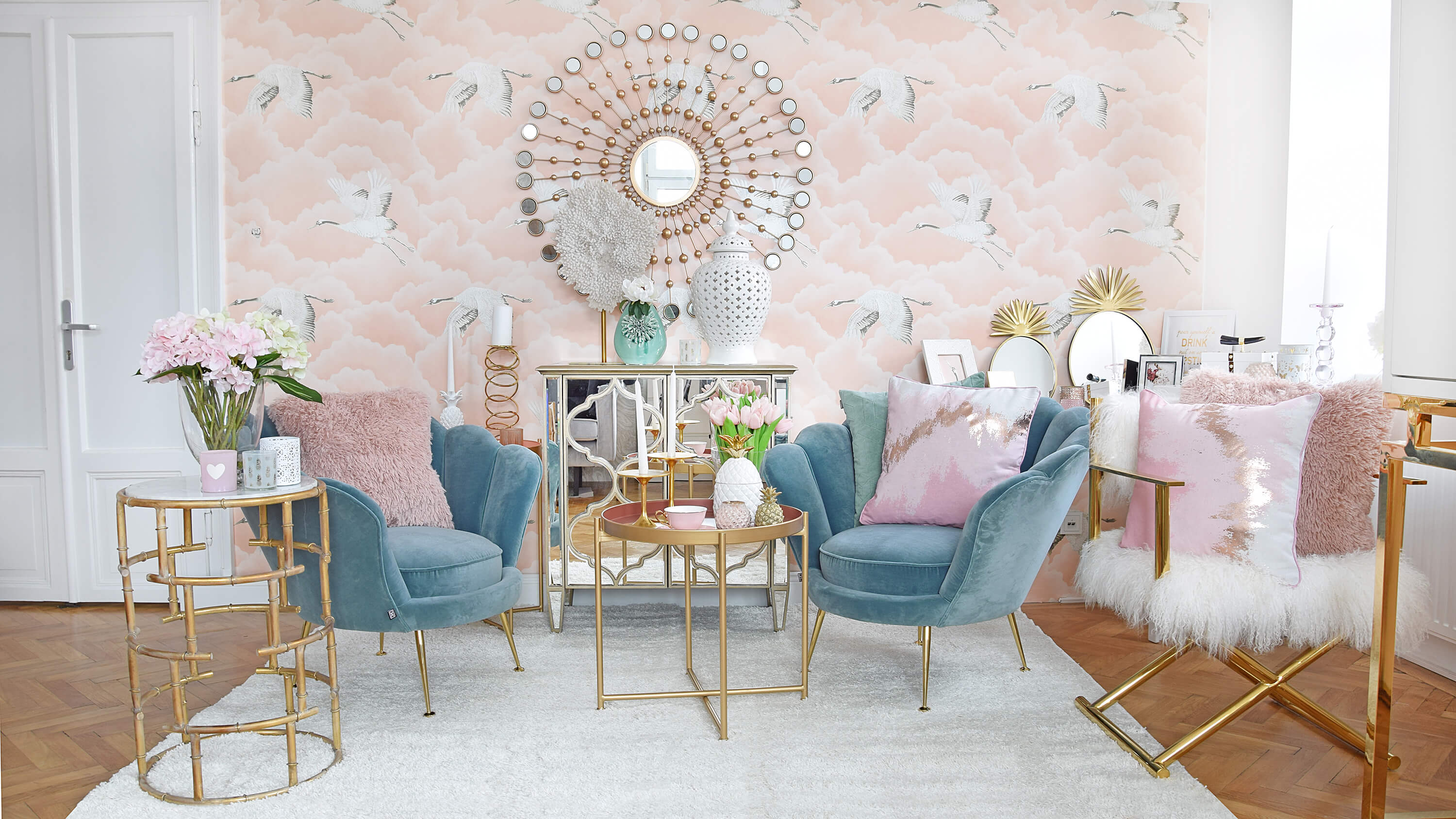 Rosa Accessoires Schlafzimmer Mermaid Dreams Wohnzimmer Lounge In Rosa Türkisblau Looks