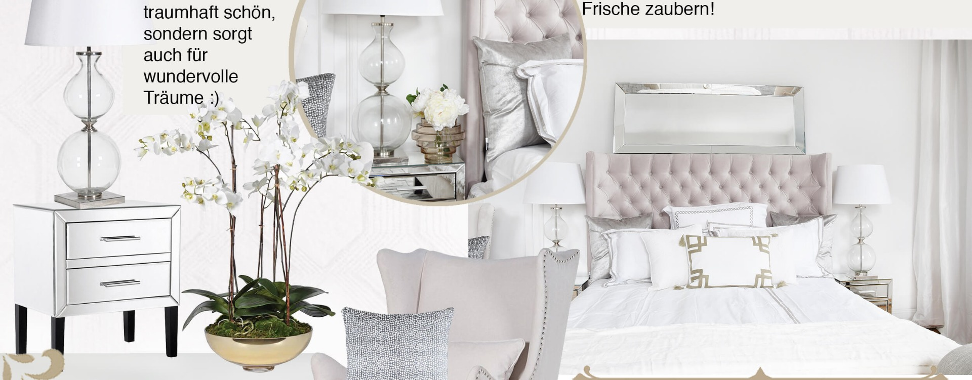 Traumhafte Tapeten Für Schlafzimmer Get The Look Luxury Pearl White Bedroom Instashop