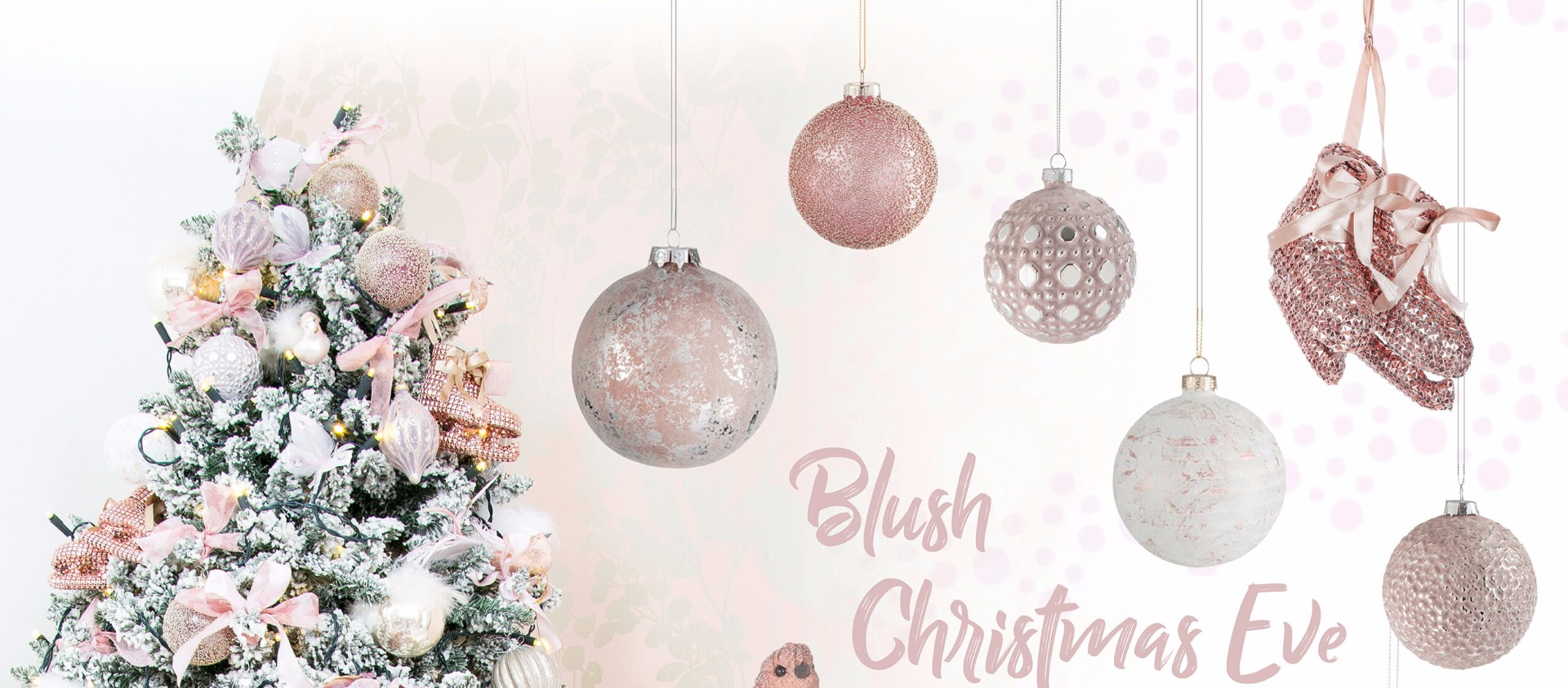 Christbaumkugeln Altrosa Blush Christmas Eve Looks