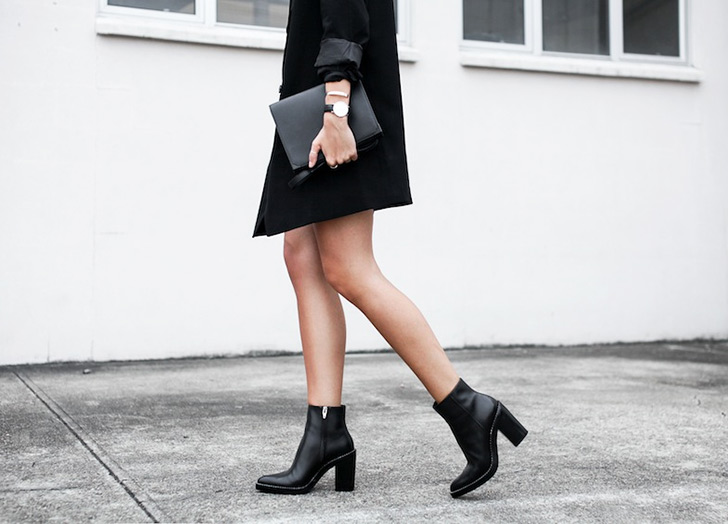 How To Wear Ankle Boots With Dresses Purewow