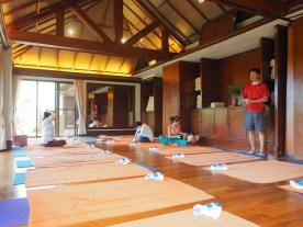 Yogastunde im CHI Spa des Shangri-La's Mactan