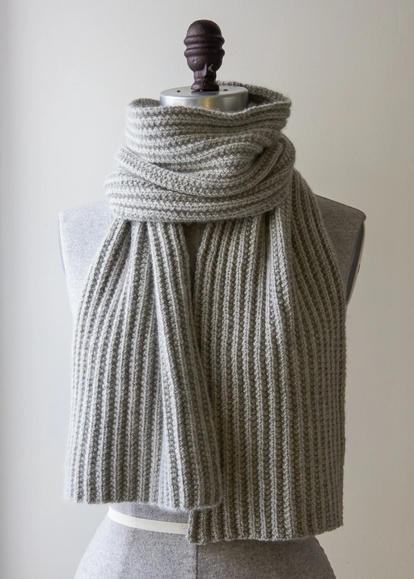 Mistake Rib Scarf In Cashmere Merino Bloom Purl Soho - Cashmere Scarf Knitting Kit