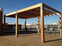 Pergola Hutchison sur le toit dun immeuble - Pur Patio
