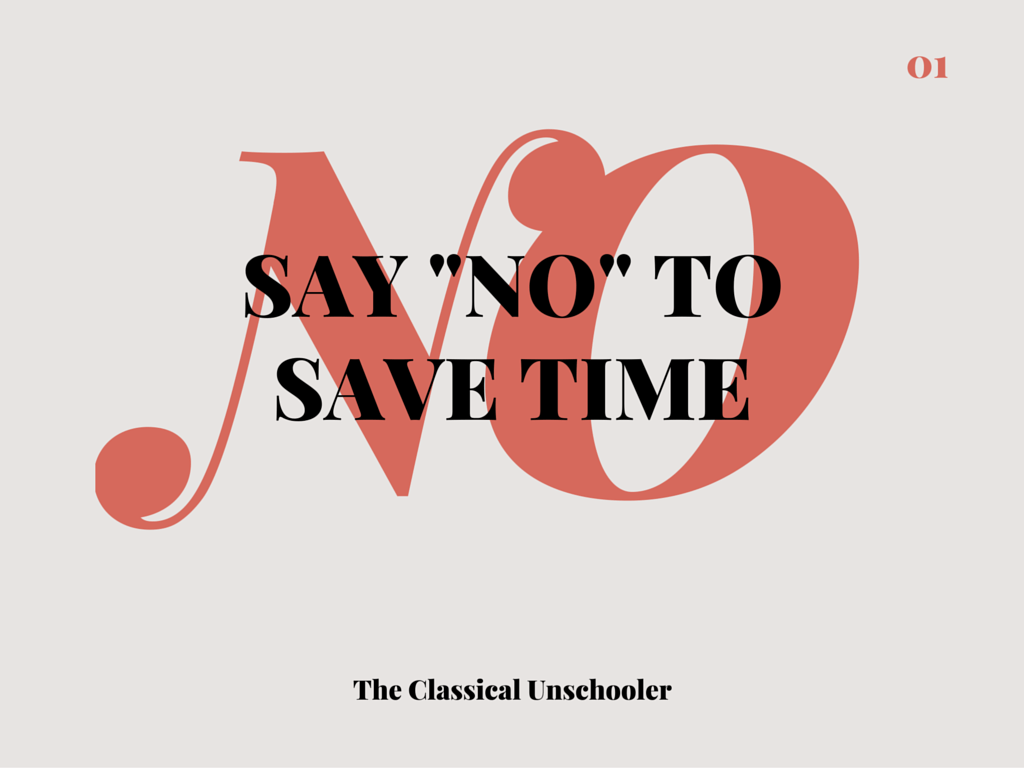 "Say ""No"" to Save Time"