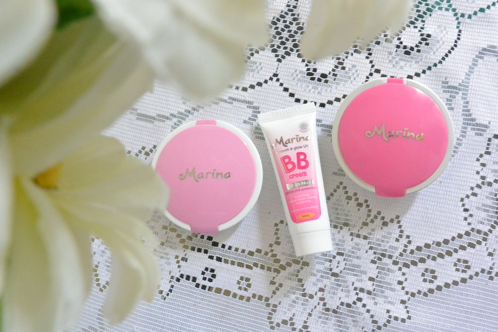 MARINA SMOOTH & GLOWING TWO WAY CAKE, COMPACT POWDER AND BB CREAM REVIEW