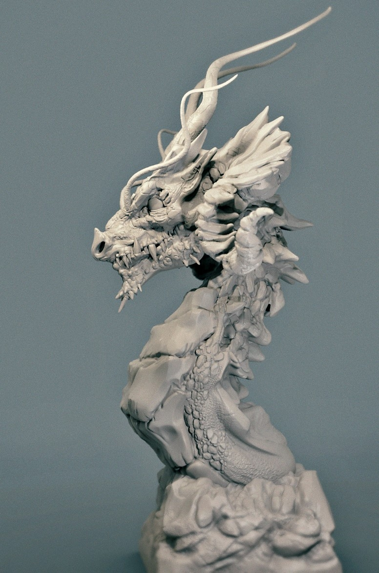 Design Digital Dragon Bust By Tylerrusso · Putty&paint