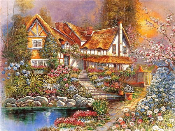 Wallpaper Hd 1080p 3d Flower Tomax Jigsaw Puzzle Dreamy Scenery 4000 Pc At Puzzle