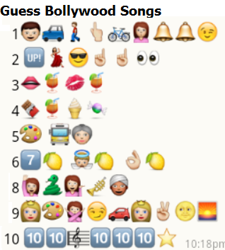 whatsapp guess bollywood songs puzzle