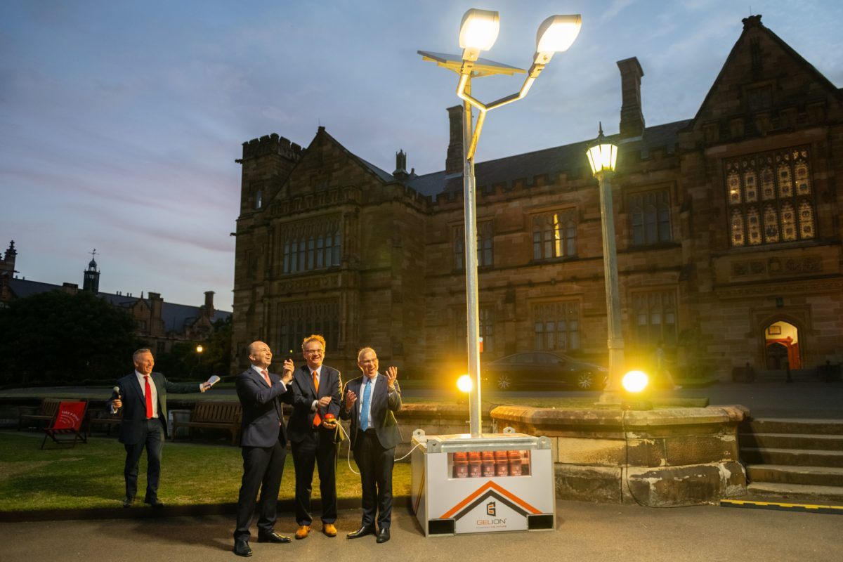 Solar Lights Australia Sydney Uni S Lamp Post Launch Of A Battery Built For Solar Storage