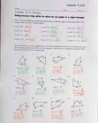 Newest Lesson 12.1 Trigonometric Ratios Worksheet Answers ...