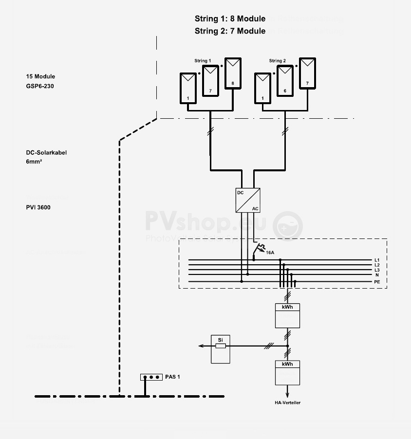 pv panel system wiring diagrams