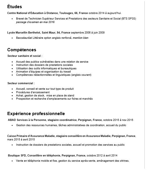 pvt canada cv competences