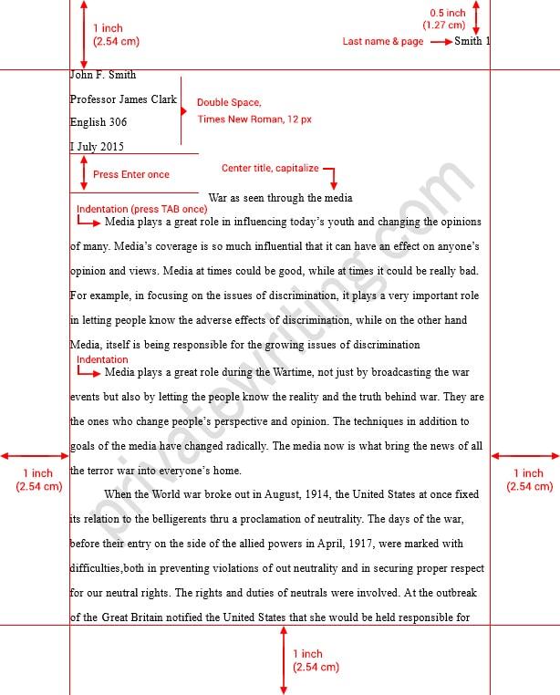 Mla essay template
